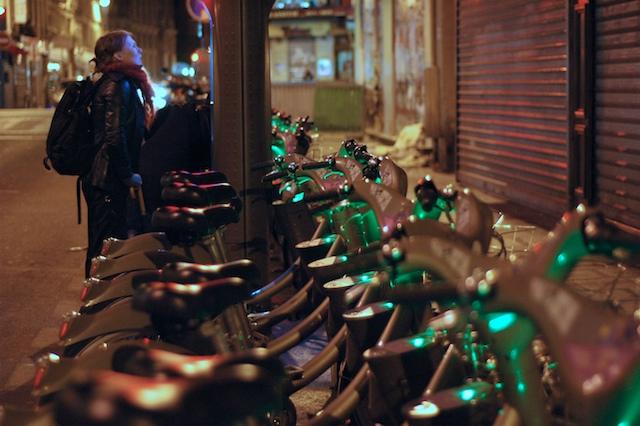 Kaupunkipyöriä Pariisissa